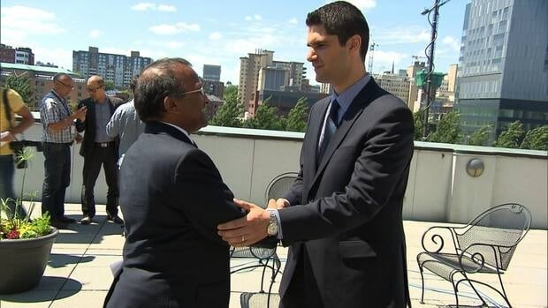St-Laurent borough mayor Alan DeSousa welcomes Harout Chitilian into the race to be temporary mayor of Montreal.