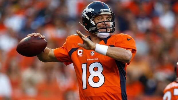 Broncos quarterback Peyton Manning made an impressive debut with his new team against the Pittsburgh Penguins on Sunday night in Denver.
