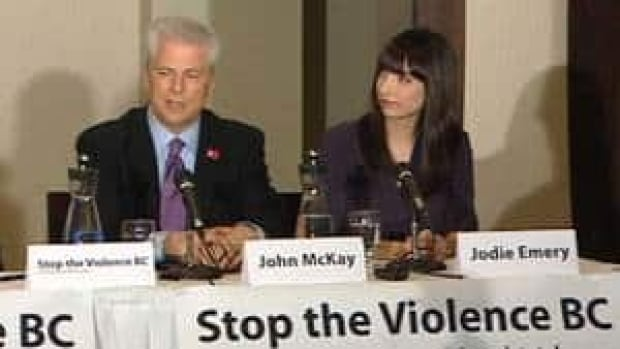 Former U.S. Attorney John McKay joined marijuana legalization activist Jodie Emery in Vancouver on Wednesday.