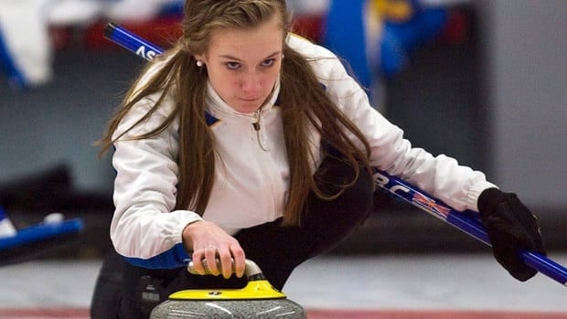 British Columbia skip Corryn Brown, seen competing at the Canada Games in 2011, lost 3-2 to Hannah Fleming of Scotland on Friday at the world junior curling championship.