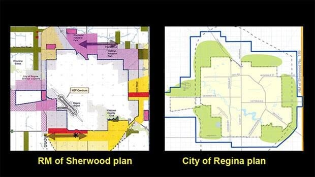 The RM of Sherwood's Official Community Plan aside the City of Regina's plan.