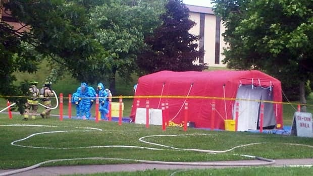 A chemist has identified the chemical spilled at the University of Moncton Thursday as dicyclopentadiene, which officials say is relatively stable and low risk.