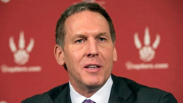 Toronto Raptors GM Bryan Colangelo speaks at his season end news conference in Toronto on Monday April 22, 2013.