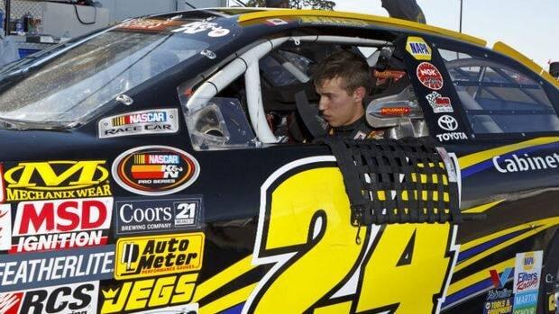 Calgary high school student Cameron Hayley, 16, won the Battle at the Beach, a NASCAR K&N Pro Series.