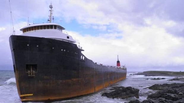 The MV Miner has been stuck off Cape Breton's coast for more than two years. It was en route to Turkey when the towline snapped and it ran aground.