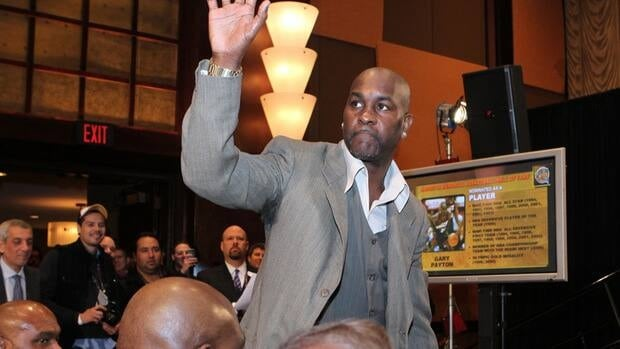 Gary Payton during the Hall of Fame press conference at the Hilton Americas Hotel on February 15, 2013 in Houston, Texas.