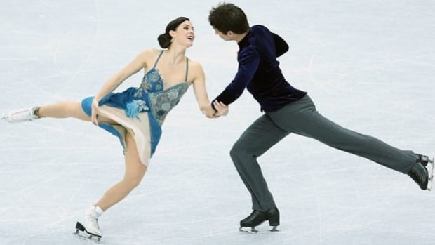 Canada's Tessa Virtue and Scott Moir perform Friday at the Iceberg Skating Palace in Sochi, Russia.
