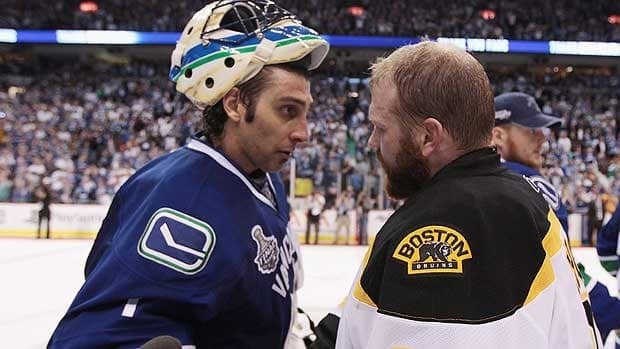 Vancouver's Roberto Luongo and Boston goalie Tim Thomas squared off in Game 7 of the Stanley Cup Final just 10 months ago.