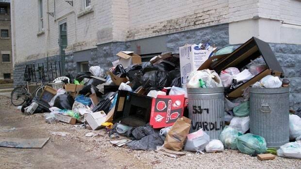 Pile Of Building Debris : Trash piles up behind wardlaw avenue apartment manitoba