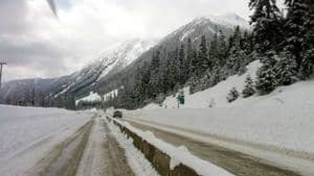 Travel on the Coquihalla Highway is not advised after 4 p.m. PT Tuesday.