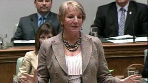 Premier Kathy Dunderdale answers questions in the house of assembly on Tuesday.