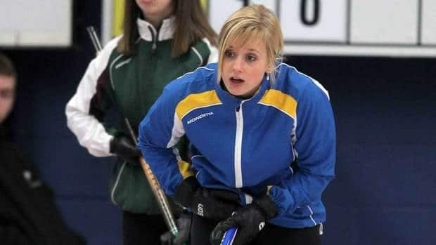 Skip Jocelyn Peterman, shown here competing in the 2011 Canada Winter Games, was eliminated from the world junior curling championships on Friday.