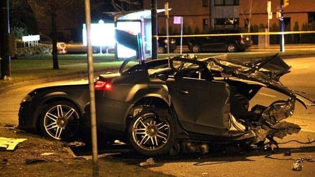Police say it appears speeding was a factor in the fatal crash on Cambie Street overnight.