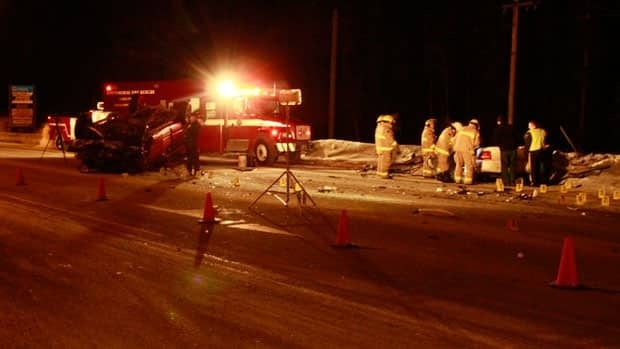 An 18-year-old Whitehorse woman was killed when a car and truck collided on the Alaska Highway near the Wolf Creek subdivision just before 7 p.m. Monday night.