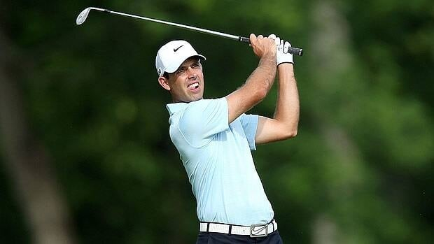 South Africa's Charl Schwartzel recovered from one notable mistake in the opening round Thursday in Dublin, Ohio.