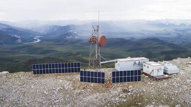 Yukon summers provide plenty of sunlight but the site will still require diesel power in winter. (Northwestel)