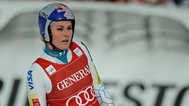 Lindsey Vonn during the World Cup women's downhill event on December 14, 2012 in Val d'Isere, France.