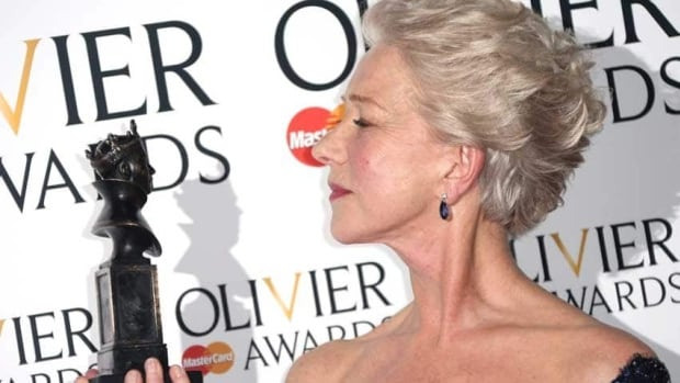 Helen Mirren won best actress for The Audience at the 2013 Olivier Awards in London on Sunday.