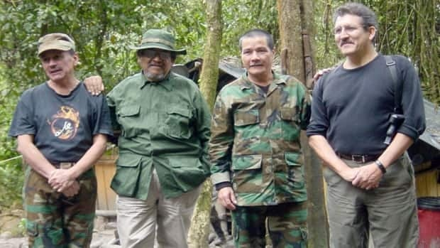 This photo released by Colombia's National Police on July 28, 2011 shows top rebel leaders of the National Liberation Army (ELN).