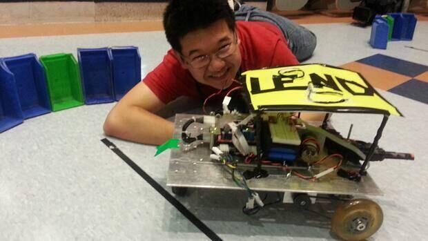 Bill Wang, 16, is part of a team racing a robot called Legend.