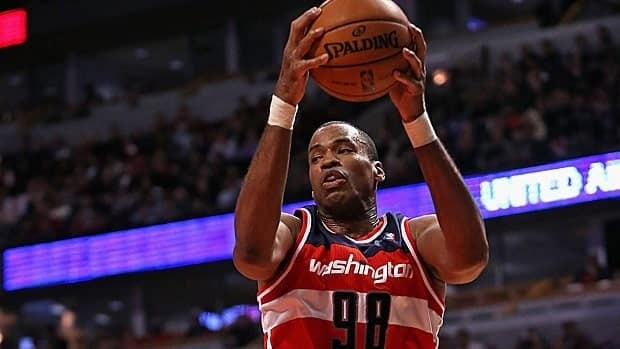 Jason Collins, seen earlier this month with Washington, has played for several NBA teams.