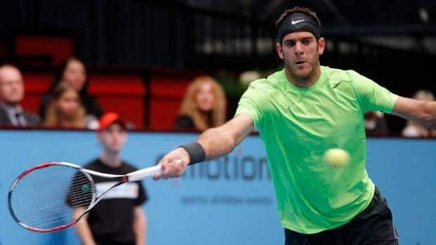Argentina's Juan Martin del Potro, shown here on Friday, reached his fourth final of the season on Saturday.