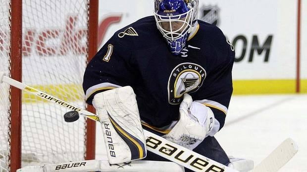 Blues goalie Brian Elliott, seen here turning away a Chicago Blackhawk on Dec. 3, has made plenty of stops this season to the tune of a .937 save percentage.