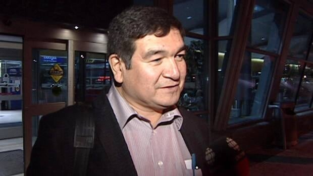Peter Penashue, seen speaking with CBC News last October, will represent the Conservative Party of Canada in an upcoming byelection in Labrador.