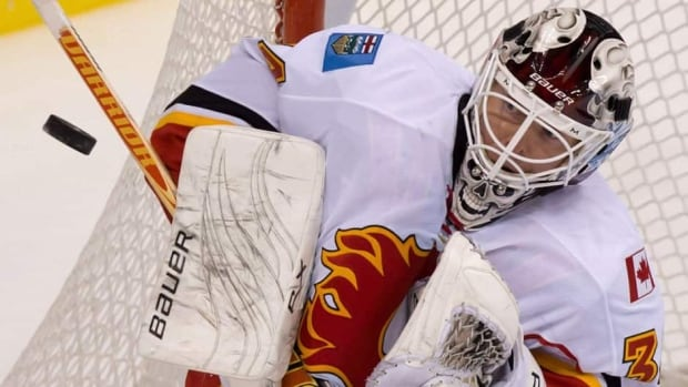 Calgary No. 1 goalie Miikka Kiprusoff will not travel with the Flames to Dallas for Monday's game against the Stars due to the imminent birth of his second child.