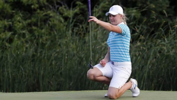 Charley Hull, of England, was the youngest to play in the Solheim Cup thish past weekend at age 17.