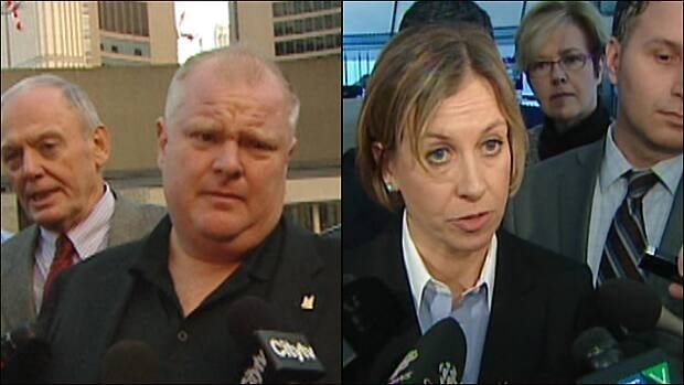 Mayor Rob Ford and TTC chair Karen Stintz are in favour of two distinctly different transit development plans, which councillors debated Wednesday.