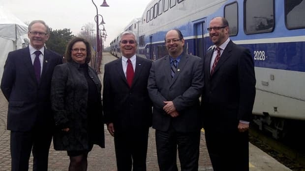 Politicians and officials were on hand in Beaconsfield Thursday morning to announce the improvements to the west island commuter line.