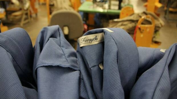 Shirts made by the former Forsyth Shirt Factory in Cambridge, Ont.