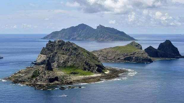 The three small uninhabited islands are called Senkaku in Japan and Diaoyu in China.