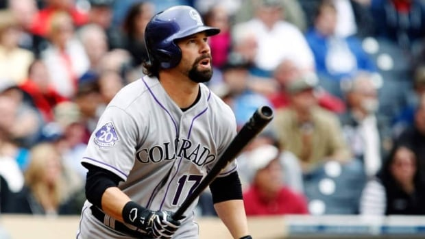 Colorado Rockies' Todd Helton during a game against the San Diego Padres Sunday, April 14, 2013, in San Diego.