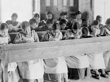 "Augie Merasty was forced to walk 20 miles in subzero weather simply because he lost a mitten and then got the strap when he came back to St. Therese residential school empty-handed. He recounts surviving the abuse of the Manitoba residential school in ""The Education of Augie Merasty."""