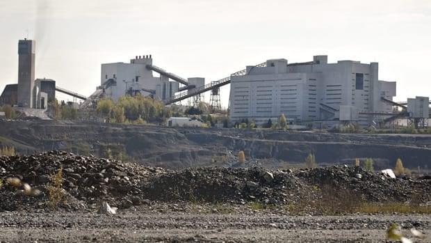Production has halted at the Jeffrey asbestos mine, shown on Oct. 7, but supporters say it's too early to write the industry off yet.