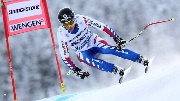 Alexis Pinturault of France during the super-combined event on January 18, 2013 in Wengen, Switzerland.