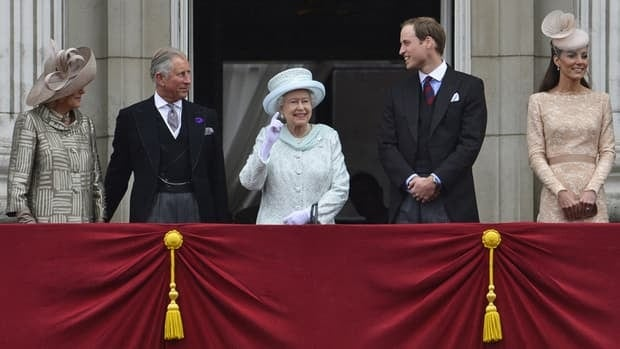 The Queen's Diamond Jubilee celebrations culminated today in London with a service of thanksgiving at St. Paul's Cathedral followed by an appearance of Queen Elizabeth and members of the Royal Family on a balcony at Buckingham Palace as thousands of well-wishers cheered in the Mall below.