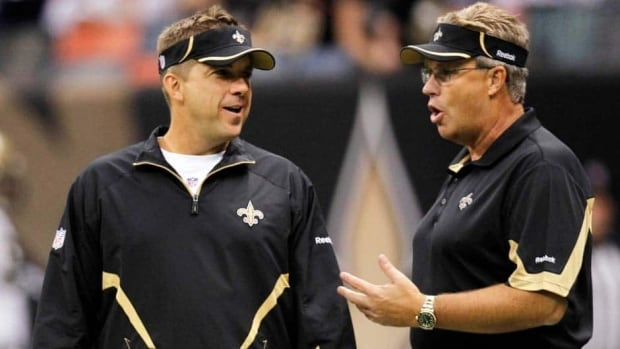 New Orleans head coach Sean Payton, left, and former defensive co-ordinator Gregg Williams were punished severely for their role in the bounty scandal.
