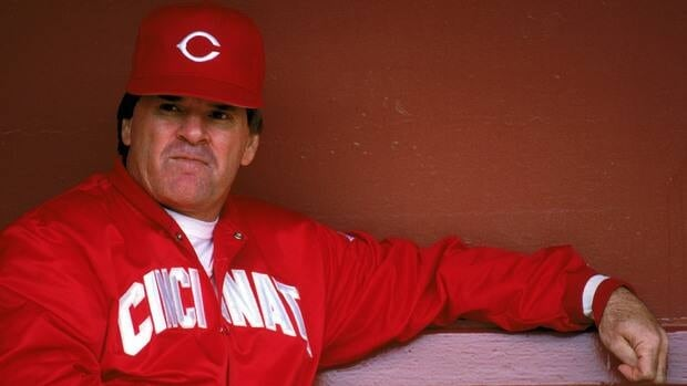 Pete Rose, shown here in 1989, is the MLB's all-time hits leader with 4,256 for his career.