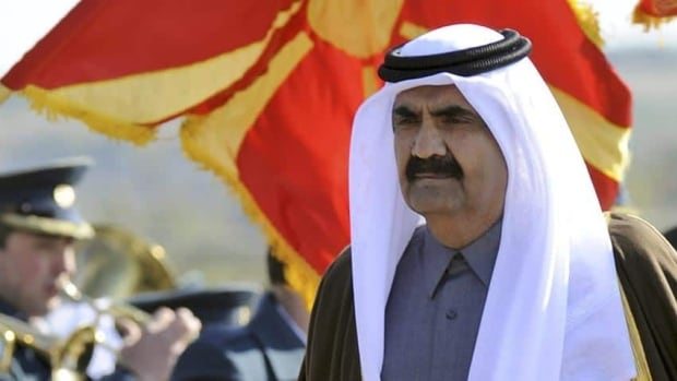 The 61-year-old Emir of Qatar, Sheik Hamad bin Khalifa Al Thani, seen here during a 2011 visit to Macedonia, is widely believed to be suffering from health problems.