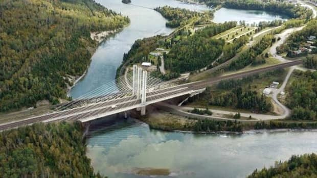The Nipigon River cable-stayed bridge will be the first of its kind on the provincial highway system, the government announced Tuesday. As shown in this illustration, the bridge will consist of three towers with cables supporting the bridge deck.