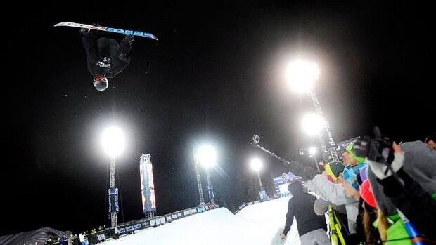Shaun White competes in the men's snowboard superpipe final Sunday at the Winter X Games.