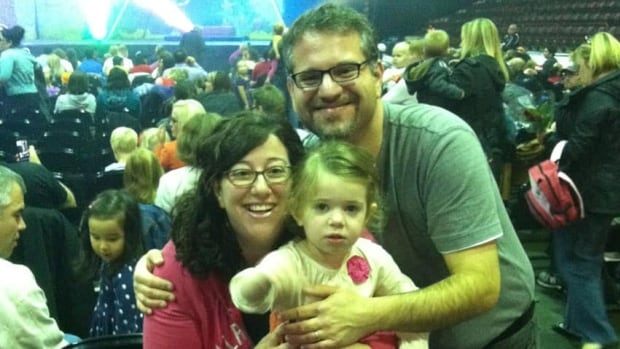 Aaron Lazare, pictured here with his wife and their three-year-old daughter, lost another daughter Annabelle to premature birth. He will be facilitating a peer support group in Hamilton next month for bereaved parents coping with infant loss.