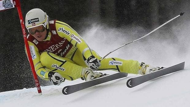 Norway's Kjetil Jansrud speeds down the course on his way to winning Sunday's men's World Cup super-G in Norway.