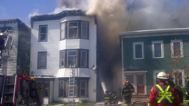 The fire on Victoria Street left seven people homeless.