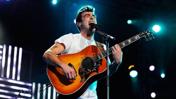 Jacob Hoggard of the band Hedley have sold 800,000 albums and won two Juno Awards.