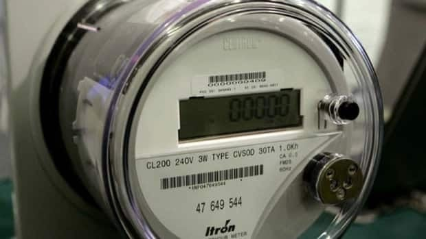 Smart meters, such as this one, digitally count how much electricity is used by a particular account. That information is sent electronically to Hydro One.