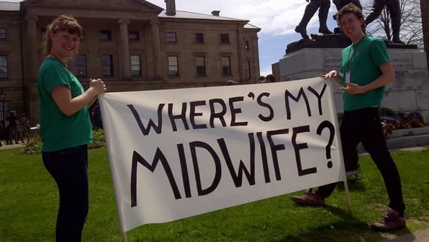 More than 100 people rallied for P.E.I. to regulate midwifery.
